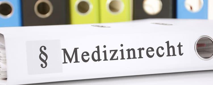Bueroordner mit Medizinrecht Aufschrift